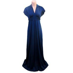 Vintage Saks fifth avenue navy maxi dress small